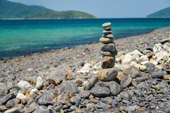 Stack of stones on Koh Hin ngam, Lipe island Royalty Free Stock Image