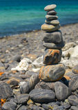 Stack of stones on Koh Hin ngam Royalty Free Stock Image