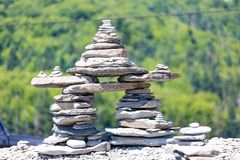 Stone Stack. A stack of stones in a shape Stock Photo