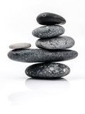 The stack of Stones spa treatment scene zen like concepts. The s Stock Photography