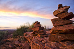 Stack of Stones. Two piles of stones stacked Stock Image