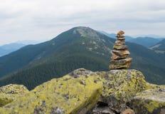 Stack of stones zen. Royalty Free Stock Photos