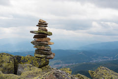 Stack of stones zen. Royalty Free Stock Image