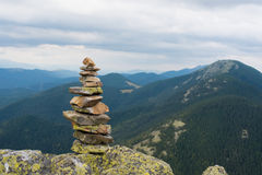 Stack of stones zen. royalty free stock photography