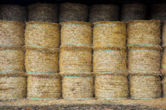 Stack of Straw Rolls Royalty Free Stock Images