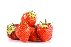 Stack of strawberries Royalty Free Stock Images