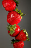 Stack of strawberries. Close-up of strawberries stacked Stock Photography