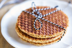 Stack of Stroopwafels Stock Image