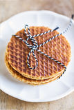 Stack of Stroopwafels Royalty Free Stock Photo