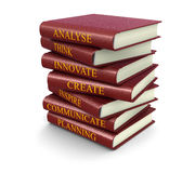 Stack of success related books (clipping path included) Stock Photography