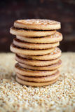 Stack of sugar cookies Stock Photos