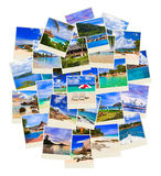 Stack of summer beach shots Royalty Free Stock Photography