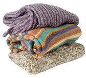 Stack of sweaters Stock Photo
