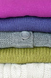 Stack of sweaters Stock Image