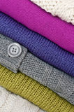 Stack of sweaters Royalty Free Stock Photo