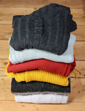 Stack of sweaters Royalty Free Stock Photos