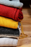 Stack of sweaters Stock Photos