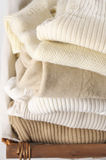 Stack of sweaters Royalty Free Stock Images