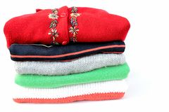 Stack of sweaters  Royalty Free Stock Image