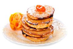 Stack of sweet bread and honey Royalty Free Stock Photo