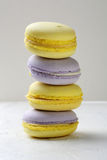 Stack of sweet french macaroons Stock Photos
