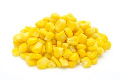 Stack of sweetcorn kernels Stock Photos