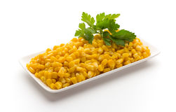 Stack of sweetcorn kernels. Royalty Free Stock Images