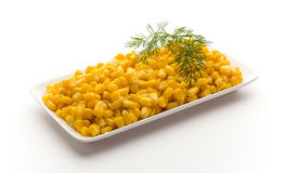 Stack of sweetcorn kernels. Stock Images