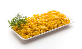 Stack of sweetcorn kernels. Stock Photo