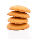 Stack of sweetmeal digestive biscuits Stock Photos