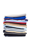 Stack of t-shirt. Isolated on white background royalty free stock images