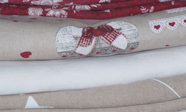 Stack of tablecloths Stock Photography