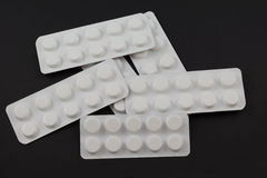 Stack of tablet blister packs Royalty Free Stock Photo