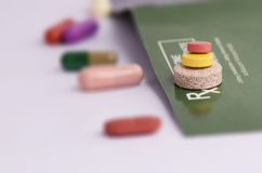 STACK OF TABLETS OF DIFFERENT SIZES Stock Images