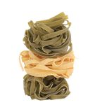 Stack of tagliatelle italian pasta. Stock Image