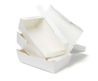 Stack of Takeaway Boxes Royalty Free Stock Images