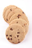Stack of Tasty chocolate chip biscuits, Stock Image