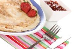 Stack of tasty pancakes Royalty Free Stock Image