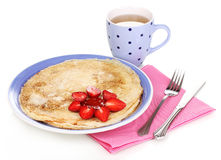 Stack of tasty pancakes Royalty Free Stock Photography