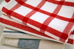 Stack of tea towels Royalty Free Stock Photography