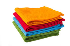 A stack of tea towels. A stack of colorful towels Royalty Free Stock Images