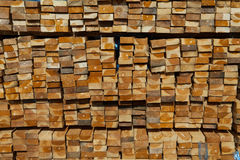 Stack of teak wood in lumber yard. pile Wooden. In sawmill royalty free stock images