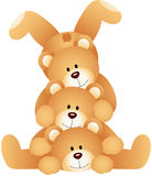 Stack of teddy bears Stock Photography