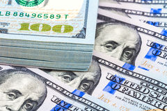 Stack of ten thousand american dollars close up Royalty Free Stock Photos