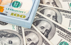 Stack of ten thousand american dollars close up Stock Images