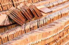 Stack of terracotta tiles Stock Photos