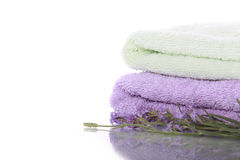 Stack of terry towels Royalty Free Stock Images