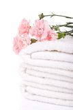 Stack of terry towels Stock Image