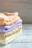 Stack terry towels Stock Photography
