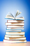 Stack of text books Royalty Free Stock Photos